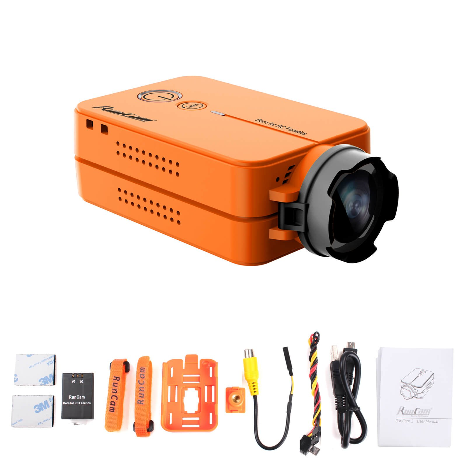 Runcam Camera FPV Drone And Remote Control Camcorder, Orange
