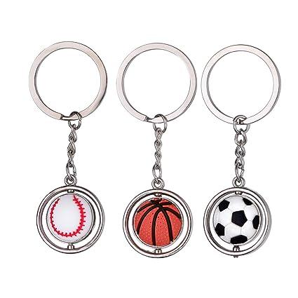 BESTOYARD 3 piezas LLavero de Clave de Baloncesto Fútbol ...