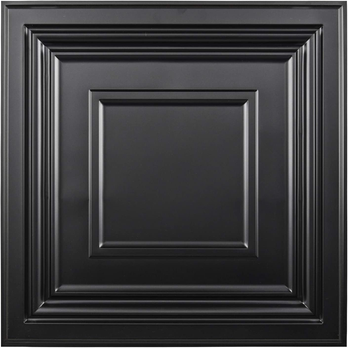 Amazon Com Art3d Decorative Drop Ceiling Tile 2x2 Pack Of 12pcs Glue Up Ceiling Panel Square Relief In Black Home Kitchen