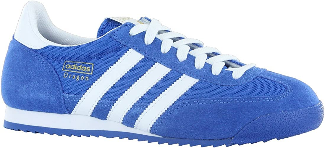Adidas Dragon Blue White Suede Leather Mens Trainers Size 8.5 UK ...