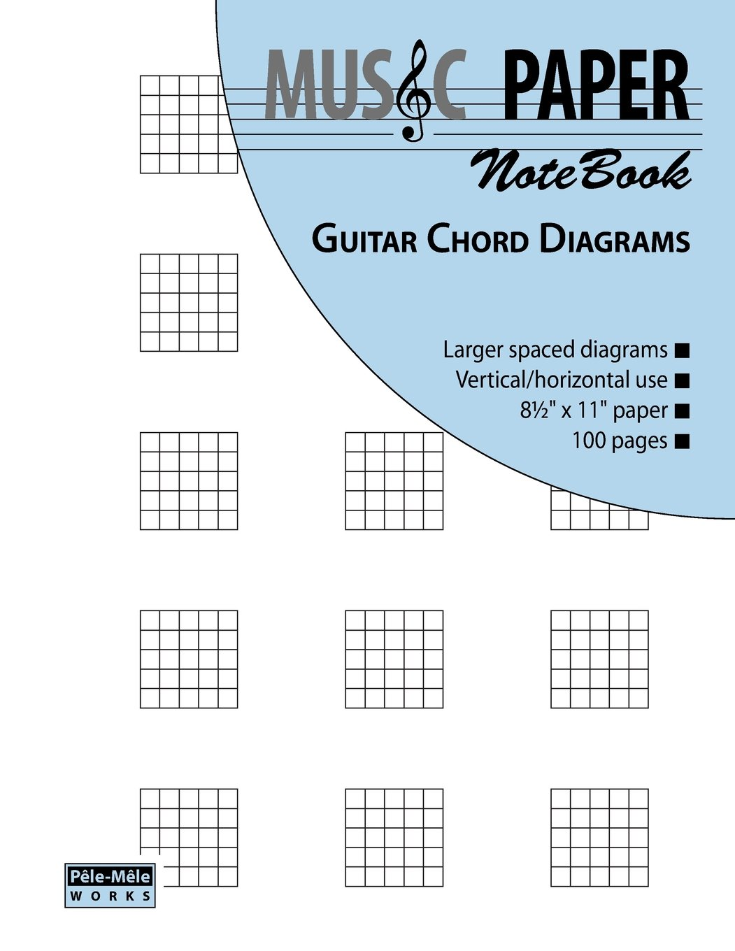Music Paper Notebook Guitar Chord Diagrams Amazon Ashkan