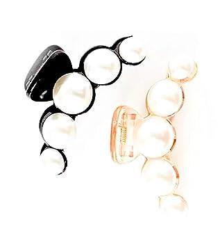 Silver metal flower crystal hair claw clip bridal clip medium//fine thin hair