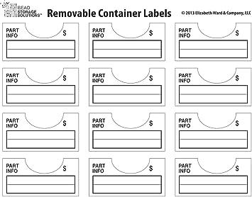Amazon.com Darice 96-Piece Elizabeth Ward Bead Storage Solutions Container Labels  sc 1 st  Amazon.com & Amazon.com: Darice 96-Piece Elizabeth Ward Bead Storage Solutions ...