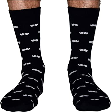 Roits Calcetines Bigotes Negro 41-46 - Calcetines Originales ...