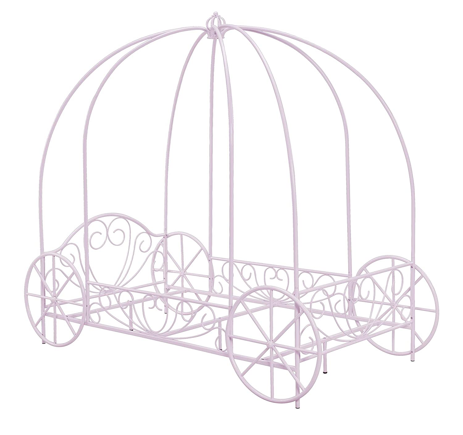 Design Carriage Bed amazon com dhp metal carriage bed fairy tale frame shabby chic style twin lilac kitchen dining