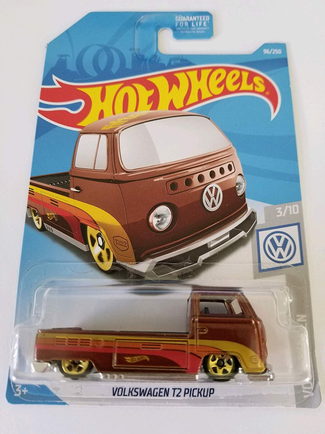 Amazon.com: Hot Wheels 2019 Volkswagen 3/10 - Volkswagen T2 ...