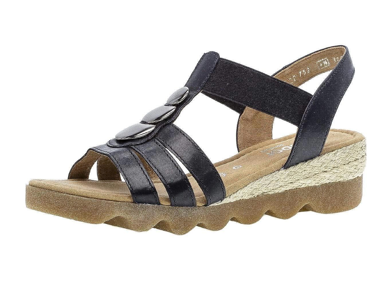 Midnig(jute Ambra) Gabor 22.752 Damen Sandalen,Riemchensandale, Frauen,Sandalette,Sommerschuh,flach,Comfort-MehrWeiße