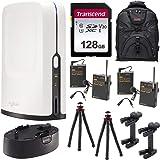 SlingStudio Hub Portable Wireless Broadcast HD Video Production Unit (Smartphone Location Interview Bundle) + Battery Pack + 128GB Card + 2 Tripods + 2 Lavalier Mics
