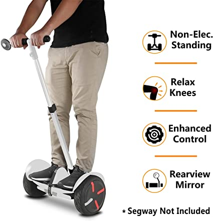 Fit for Kids and Adults Adjustable Height AUBESTKER Handlebar Kickstand Kit for Segway Ninebot S MiniPRO MiniLITE