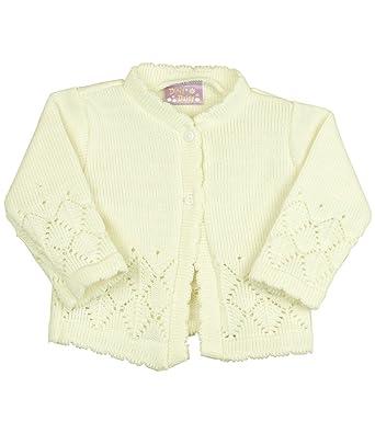 498c885a4d48 Babyprem Baby Girls Lacey Knitted Cardigan  Amazon.co.uk  Clothing