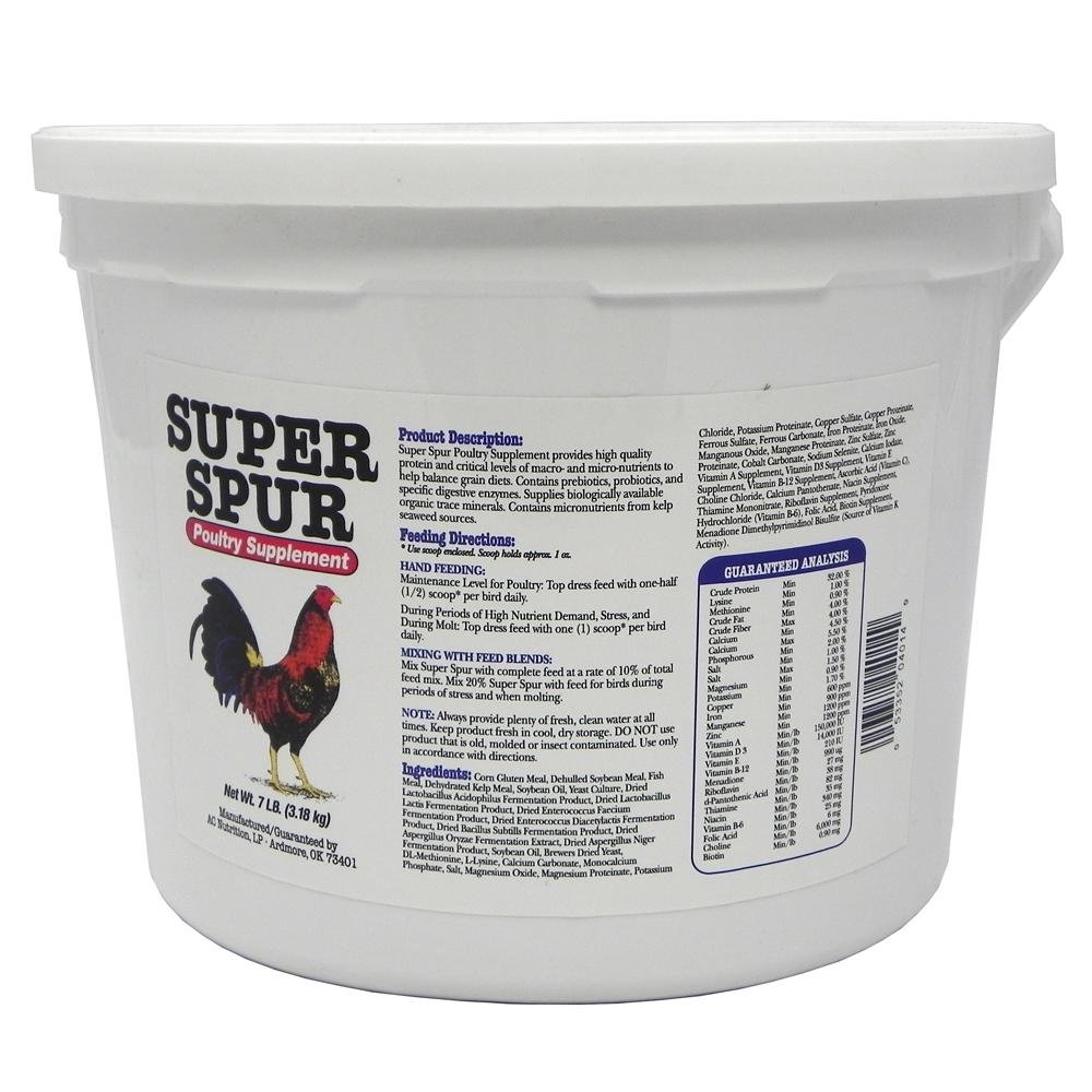 Super Spur Chicken Supplement 7 lb Tub by Am Feed