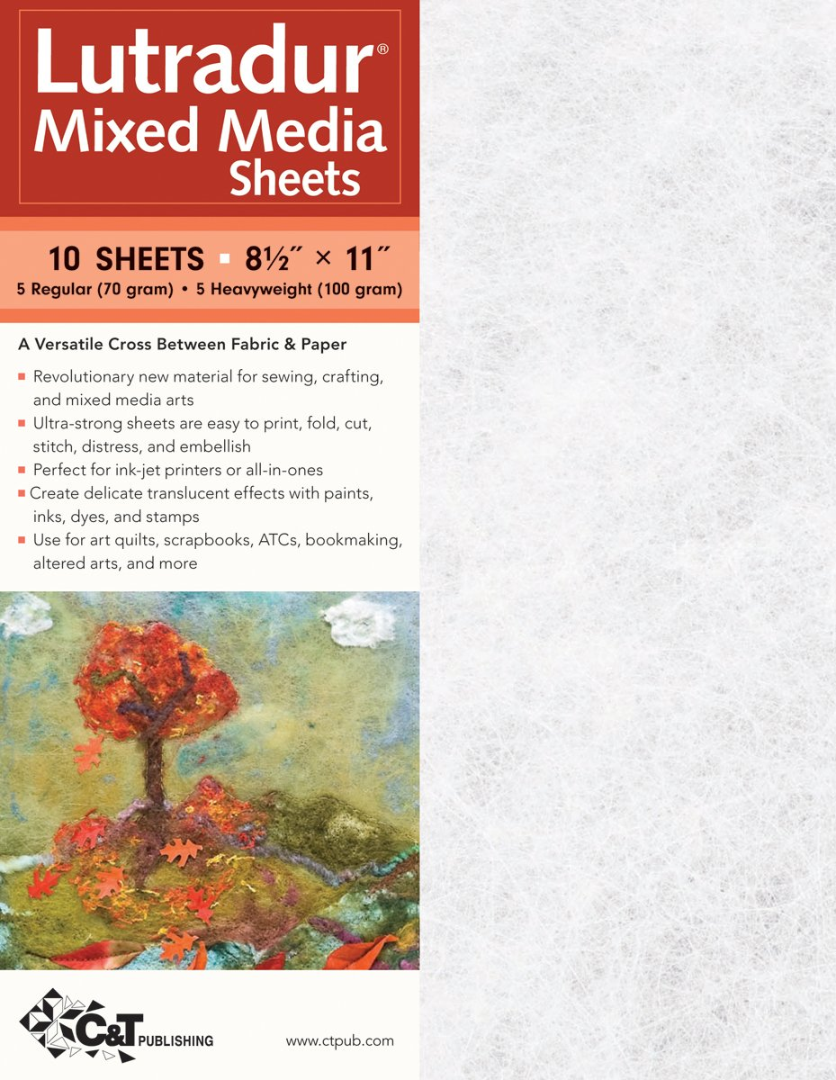 C&T PUBLISHING Lutradur Mixed Media Sheets, 8.5'' x 11'' - Package of 10 by C&T PUBLISHING