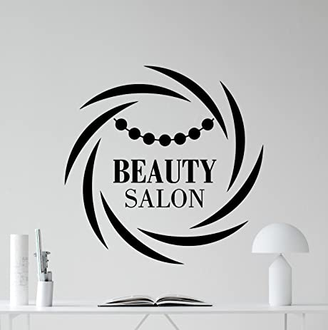 Beauty Salon Wall Decal Stylist Hairdressing Scissors Hairbrush