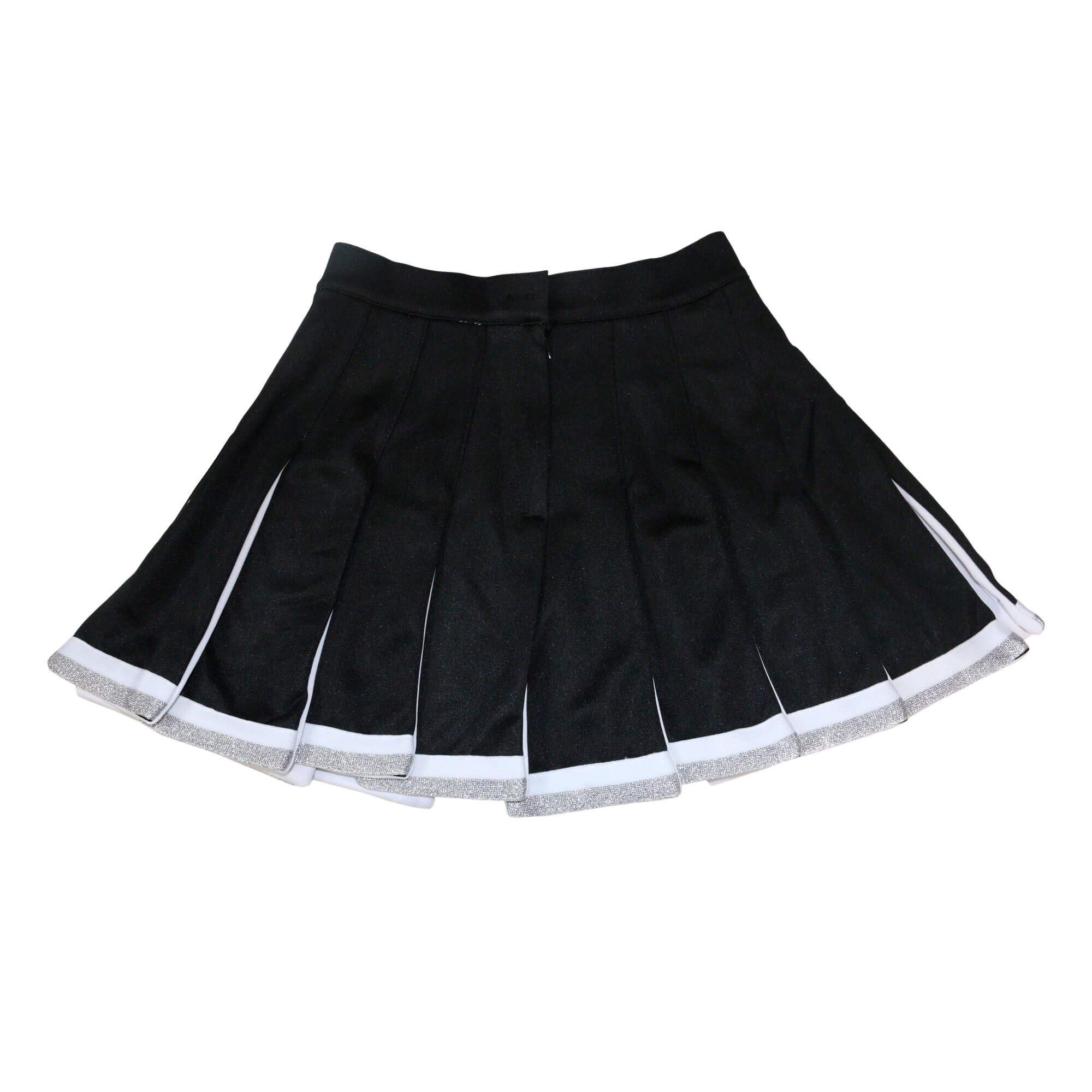 Danzcue Child Cheerleading Pleated Skirt, Black-White, Medium by Danzcue