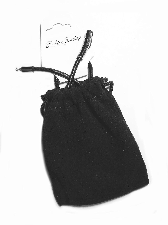 Cord/ón Negro de 3 mm para Colgantes en 3 medidas diferentes Lote de 3 Cadenas de Cuero para Collar Hombre y Mujer Cuero Genuino Liso con Doble Cierre Magn/ético y de Seguridad en Acero Inoxidable