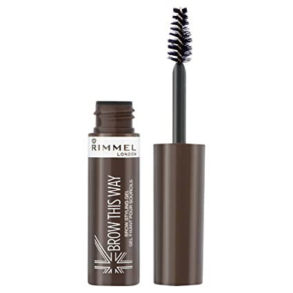 Rimmel London Gel fijador de cejas, 003 Marrón oscuro - 5 ml