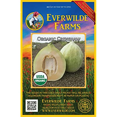 Verazui 25 Organic Crenshaw Melon Seeds - : Garden & Outdoor