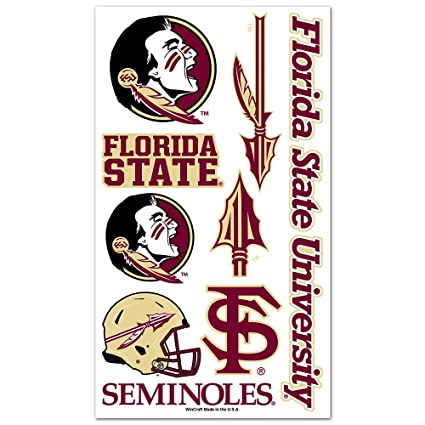 Wincraft NCAA Florida State Seminoles (FSU) Temporary Tattoos