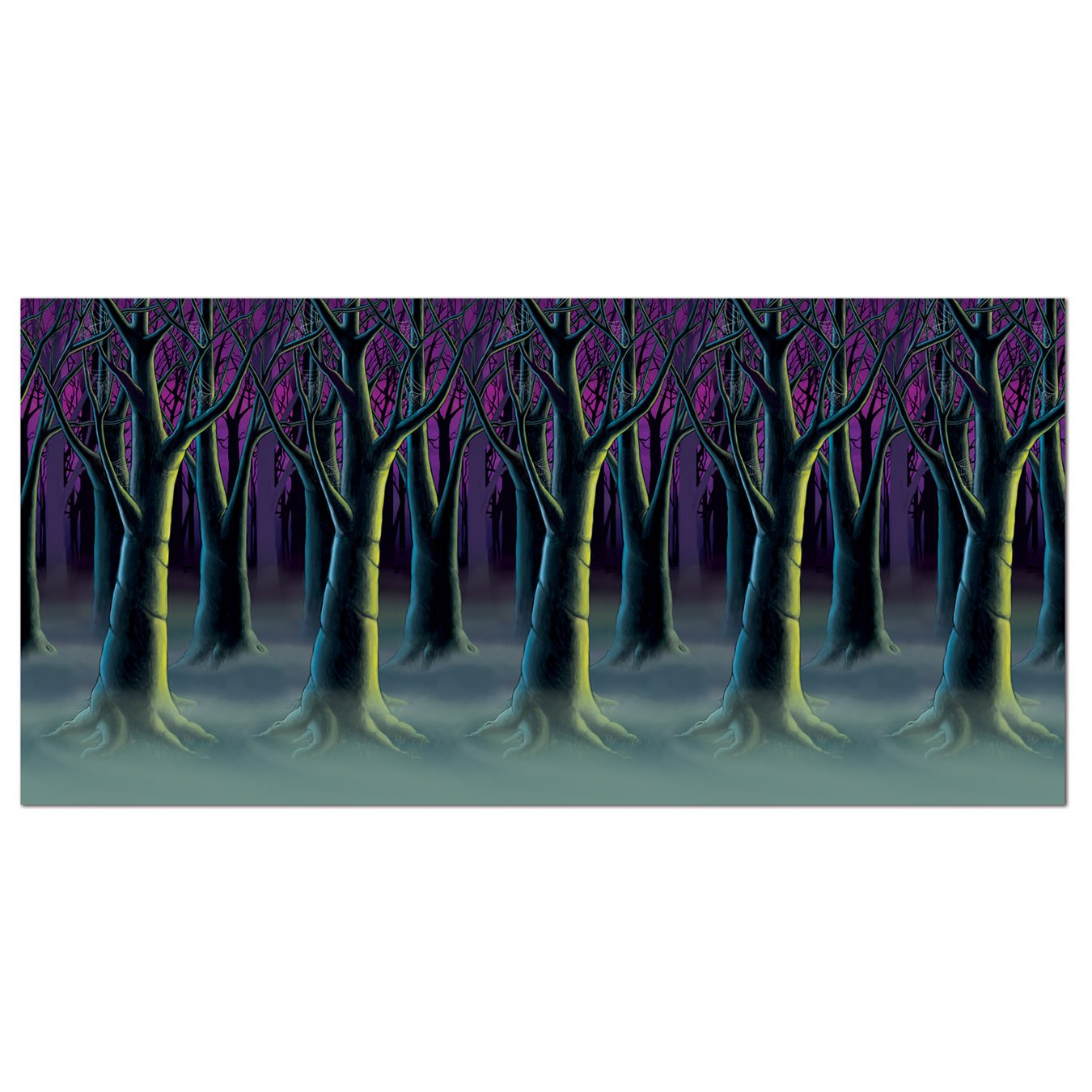 Beistle Spooky Forest Trees Backdrop, 4-Feet by 30-Feet by Beistle