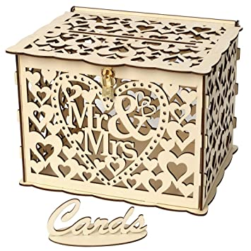 Wedding Card Holder.Amazon Com Amaping Wedding Gift Card Holder Box With Lock