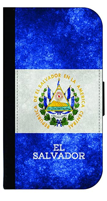 El Salvador Grunge Flag TM Leather and Suede Look Passport Cover with Double-Sided Design Made in the USA