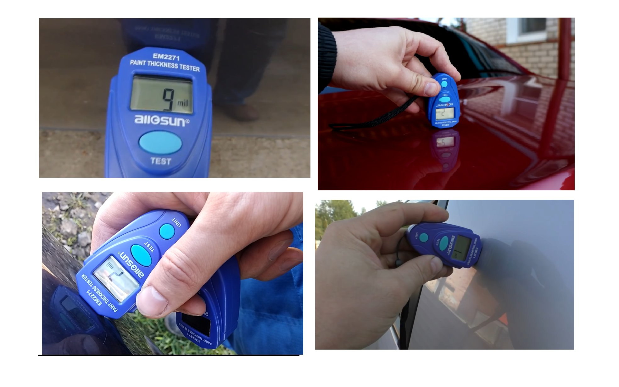 all-sun EM2271 Blue Digital Painting Thickness Meter by all-sun (Image #2)