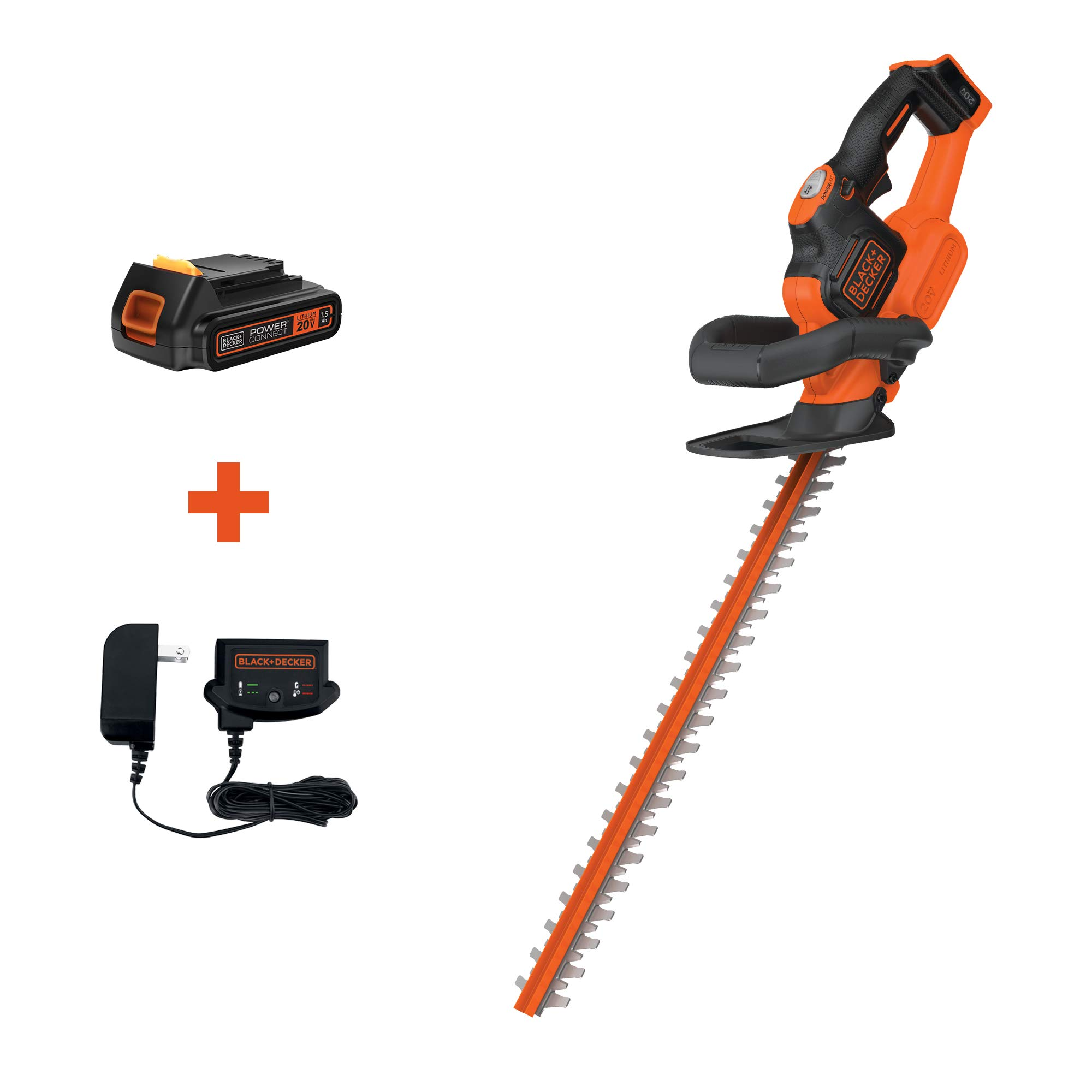 BLACK+DECKER 20V MAX Cordless Hedge Trimmer with POWERCOMMAND Powercut, 22-Inch (LHT321FF) by BLACK+DECKER