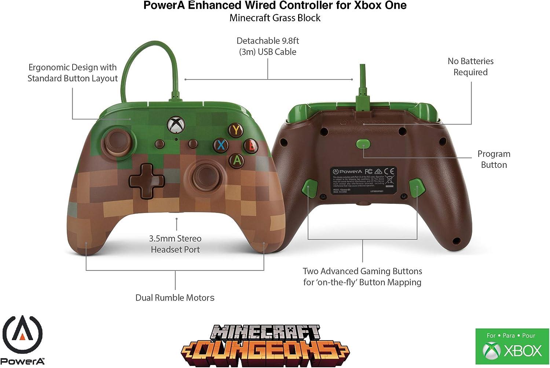 Enhanced Wired Controller Minecraft Grass Block Xbox One: Amazon
