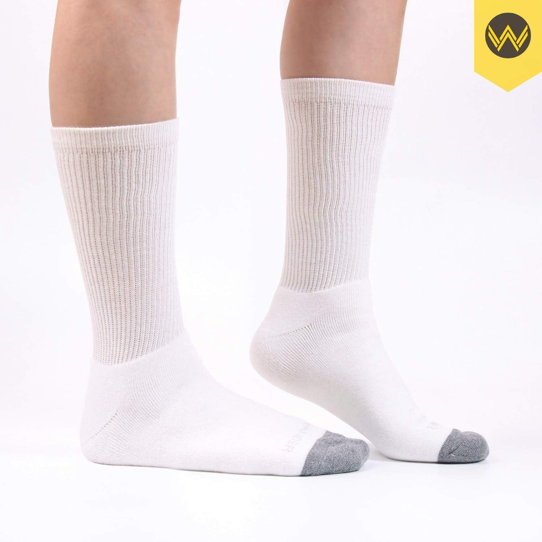 8 Pairs WANDER Men/'s Cotton Cushion Crew Socks Moisture Wicking for Running Hiking Everyday