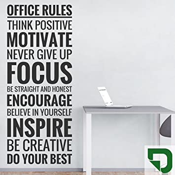 Designscape Wandtattoo Office Rules Buroregeln Motivation Furs