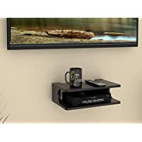 Onlineshoppee MDF Beautiful Design Set top Box Wall Shelf