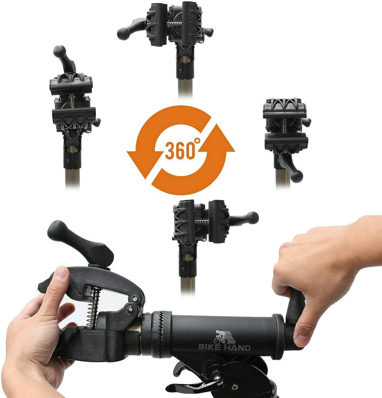 BIKE HAND Soporte de reparación de Bicicletas para el hogar, portátil, para Mantenimiento de Bicicletas de montaña y Bicicletas de Carretera: Amazon.es: Deportes y aire libre