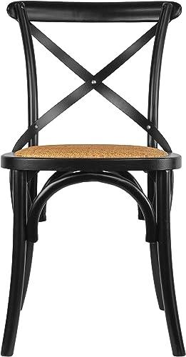 2xHome CH-Cross Black Dining Chair