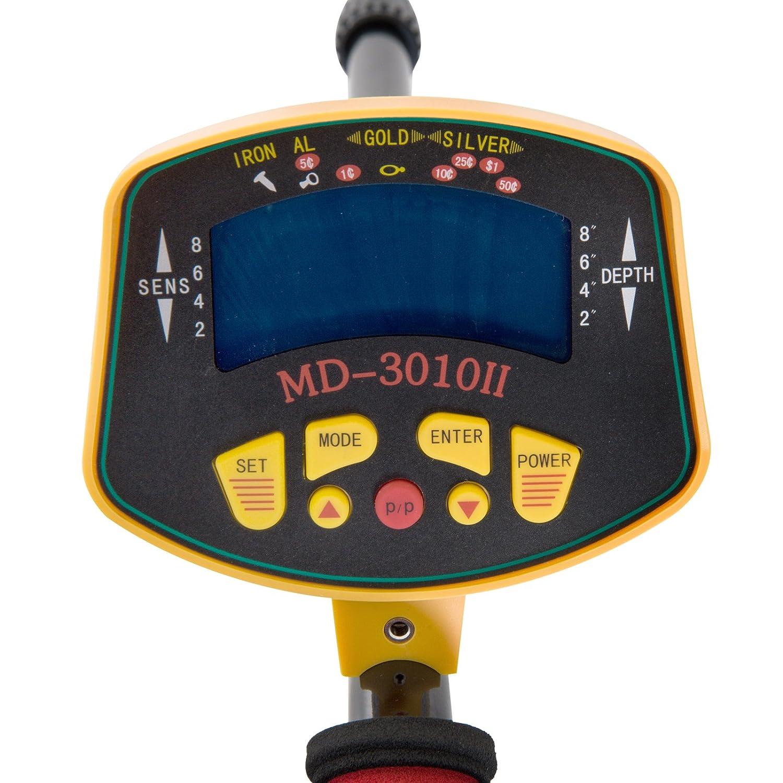 Outsunny Detector de Metales Fácil de Usar Alta Precisión Pantalla LCD Bobina de Búsqueda Impermeable Longitud Ajustable Oro Cavador: Amazon.es: Jardín