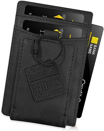 FIDELO Minimalist Wallet Card Holder Slim Front Pocket RFID Wallets for Men wi