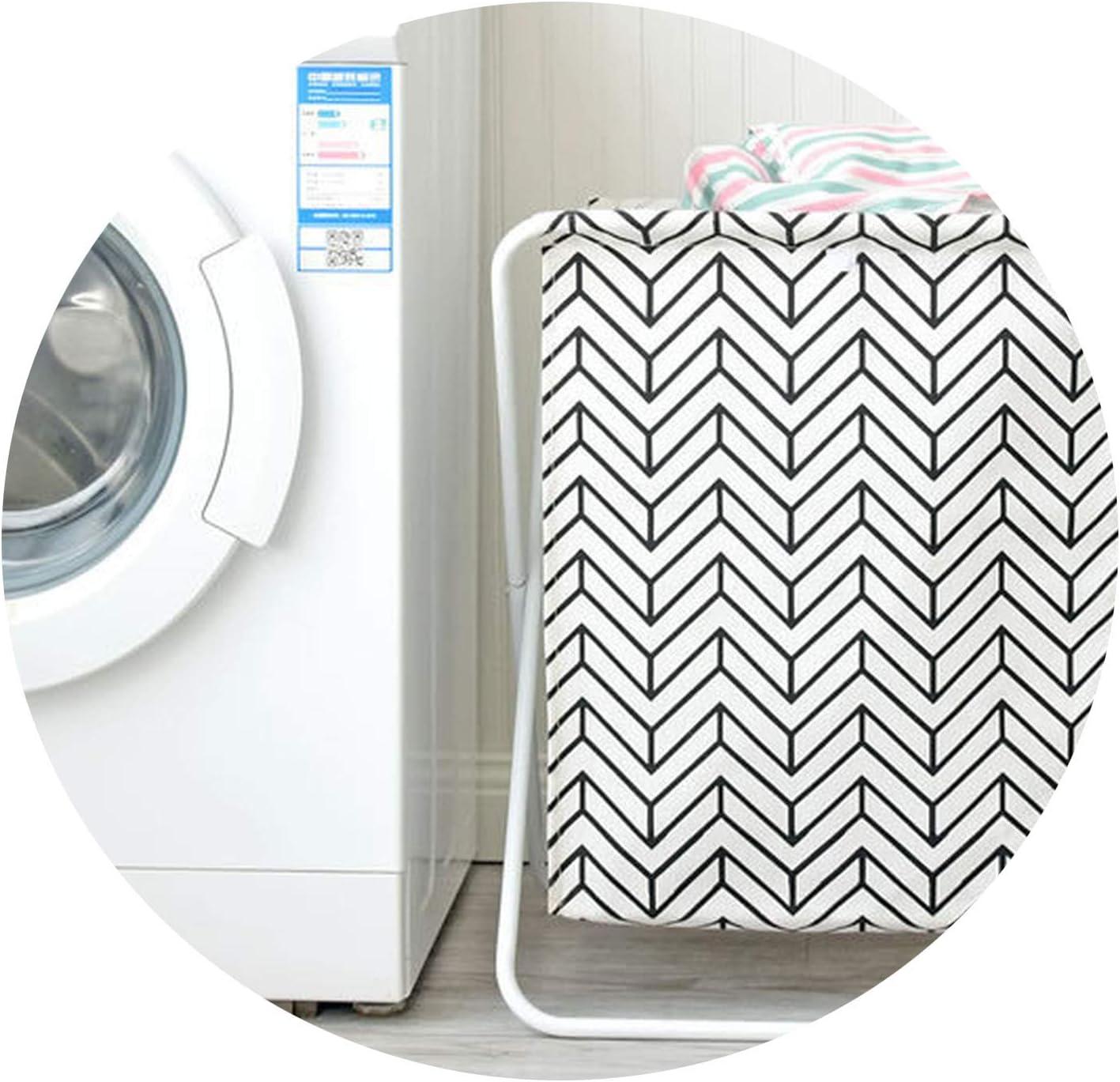 Krystal_wisdom Large Laundry Basket Iron Shelf Baby Toys Basket Washing Basket for Dirty Clothes Laundry Hamper Cotton Linen Organizer Bags,2