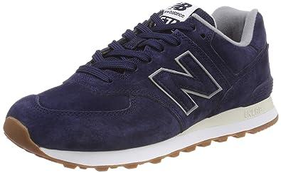 a191168f30fce Amazon.com: New Balance Men's 574 Suede Trainers, Blue: Shoes