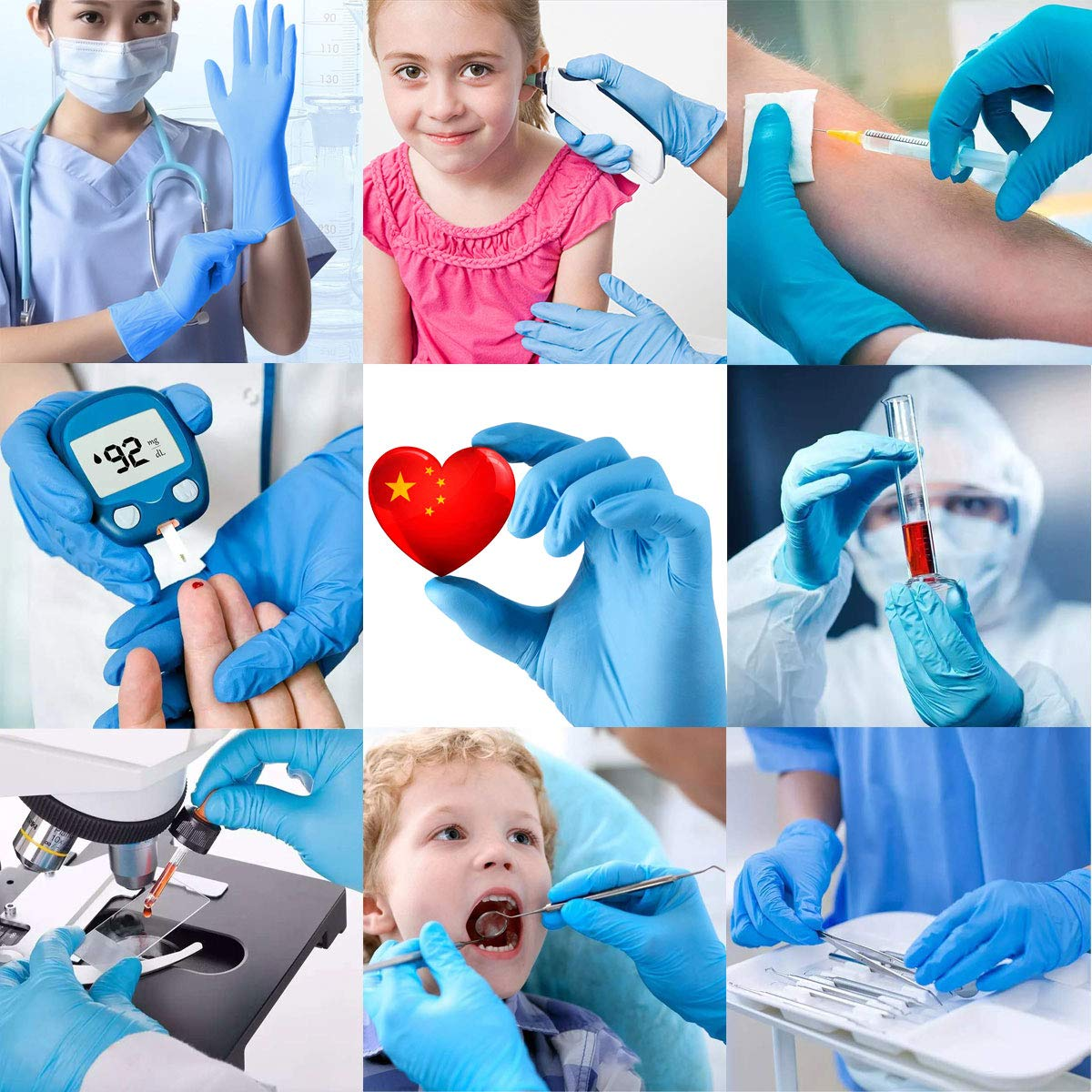 Disposable Gloves Nitrile Gloves Medical Glove Blue Powder Free Latex Free Patient Examination Gloves Disposable Small 100 Pcs