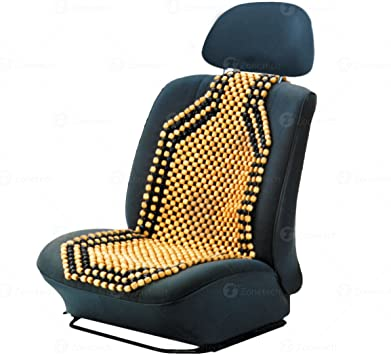 Prom-note Wooden Beaded Massage Car Front Seat Cover Cushion,Wooden Bead Car Seat Cover,Wooden Beaded Car Seat Cushion Pad Cover Back Support
