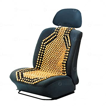 Zone Tech SE0004 Wooden Beaded Car Seat Cushion Pad Cover Back Support
