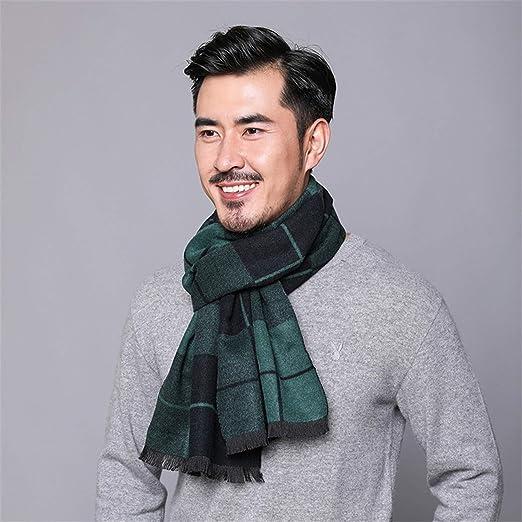 He-shop Bufandas para Hombres, Bufanda Casual de algodón, Bufanda de Cuello de Tela Escocesa Gruesa cálida Suave y Transpirable Salvaje para otoño e Invierno: Amazon.es: Hogar