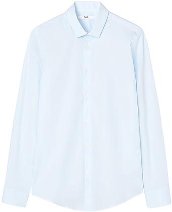 28638db71 T-Shirts Men s Stretch Skinny Fit Formal Long Sleeve Dress Shirt   Amazon.co.uk  Clothing