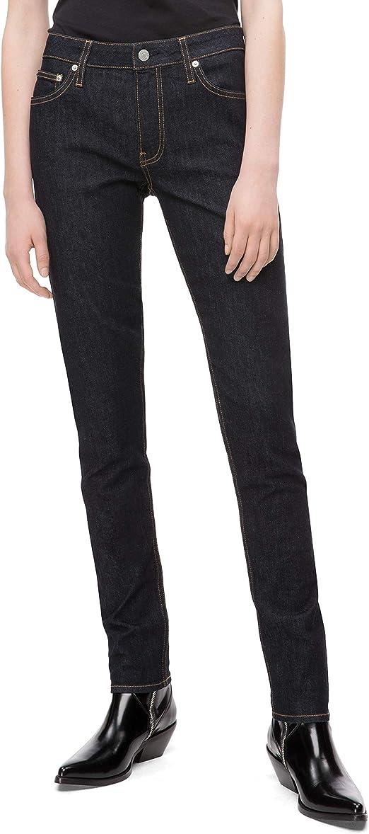 Womens Mid Rise Skinny Dark Blue Rinse Jeans Denim Trousers 5 Lengths 6-24