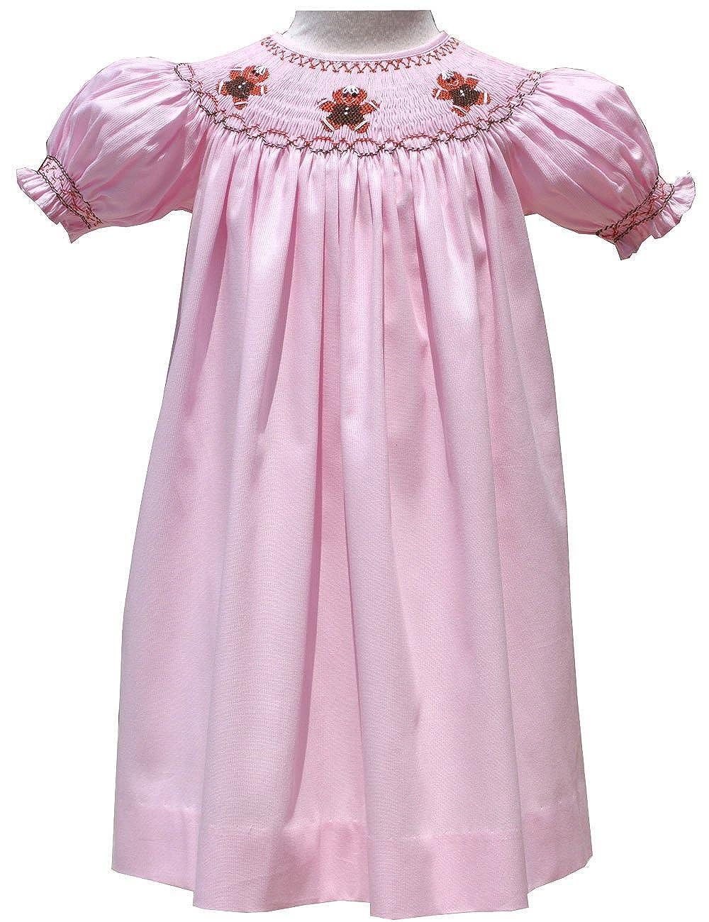Amazon Com Pink Christmas Girls Bishop Dress Hand Smocked