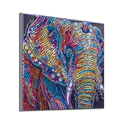 5D special shaped diamond painting elephant DIY diamond embroidery home decor 9U