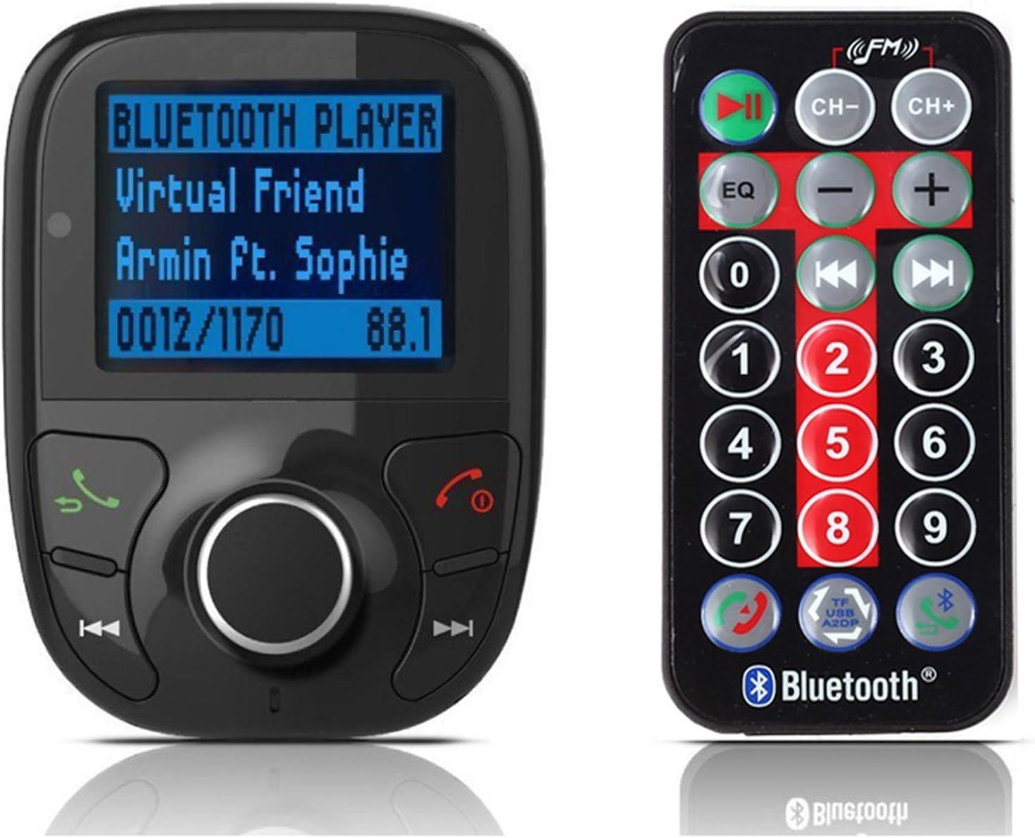 LCD Car Kit MP3 Bluetooth Player FM Transmitter Modulator SD MMC USB Remote