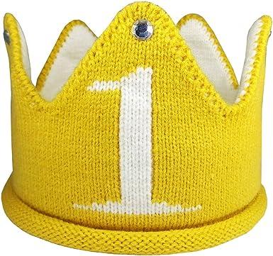 Amazon.com: Lujuny Knit - Gorro de 1 cumpleaños, diseño de ...