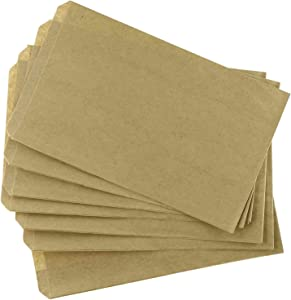 """100 pcs 4"""" X 6"""" Brown Kraft Paper Bags for Candy, Cookies, Small Gifts, Crafts, Party favors, Jewelry, Merchandise, Gift bags"""