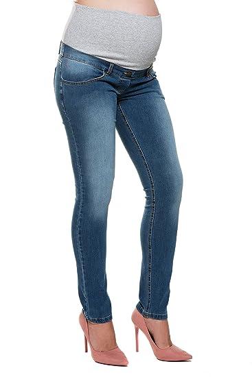 01157d10827f My Tummy Pantaloni Premaman Drew Jeans Blu S (Small) Abbigliamento Premaman   Amazon.it  Abbigliamento