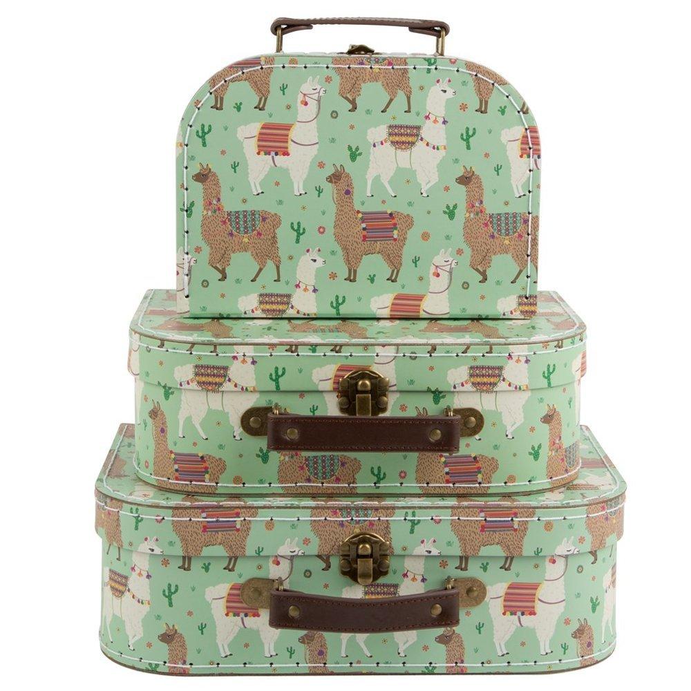 Set di 3 lima Llama valigie Luck and Luck